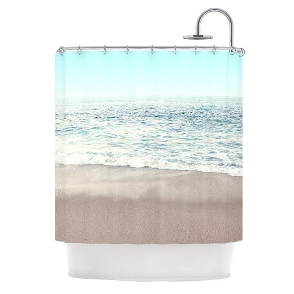 KESS InHouse Monika Strigel The Sea Blue Coastal Shower Curtain (69x70)