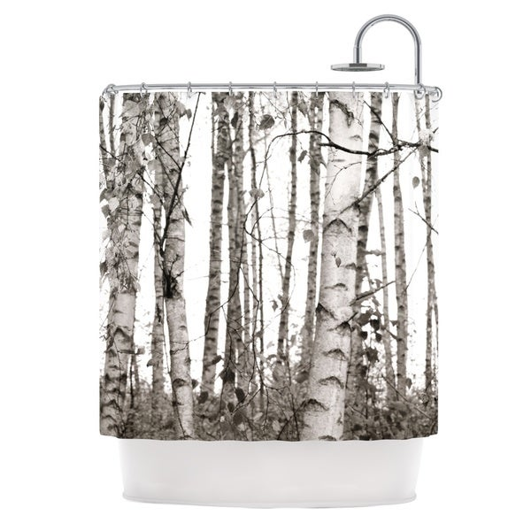 KESS InHouse Monika Strigel Birchwood Gray Forest Shower Curtain (69x70)