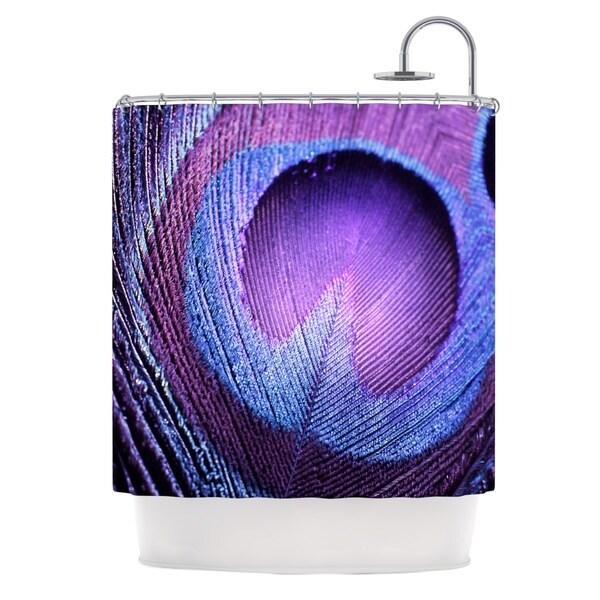 KESS InHouse Monika Strigel Purple Peacock Lavender Shower Curtain (69x70)