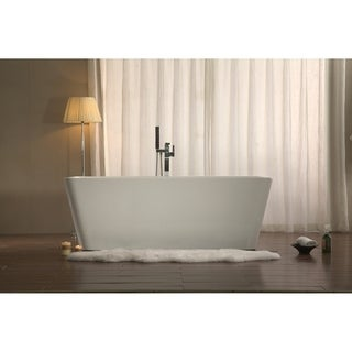 "Azzuri Adele 67"" Free Standing Acrylic Soaking Tub with Center Drain, Pop-up Drain, and Overflow"
