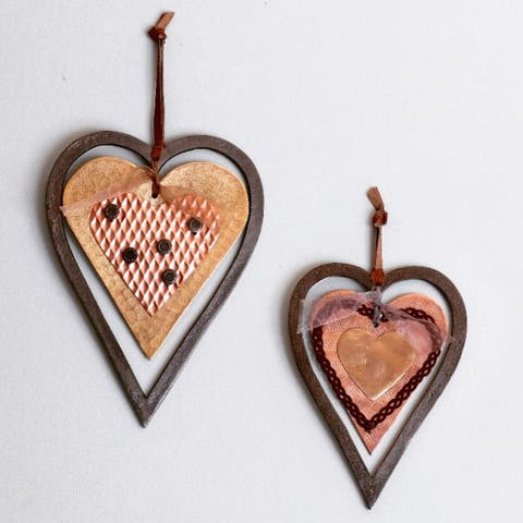 Iron Hanging Hearts (Set of 2)