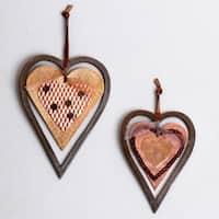 Iron Hanging Hearts (Set of 2)