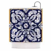 KESS InHouse Oriana Cordero Lisboa Blue Yellow Shower Curtain (69x70)