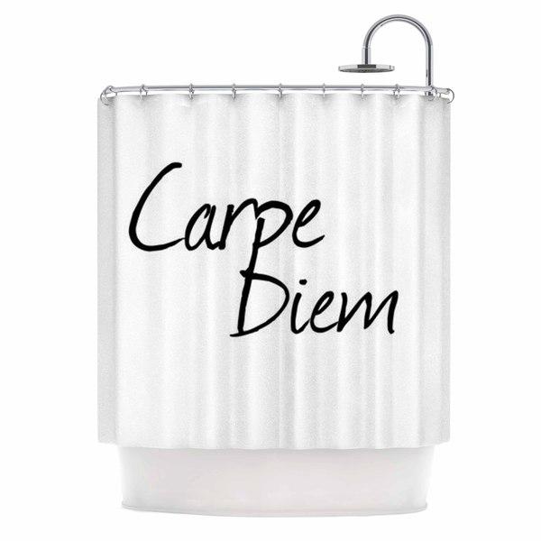KESS InHouse Oriana Cordero Carpe Diem Black White Shower Curtain (69x70)