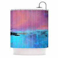 KESS InHouse Oriana Cordero Versailles-Abstract Pink Blue Shower Curtain (69x70)