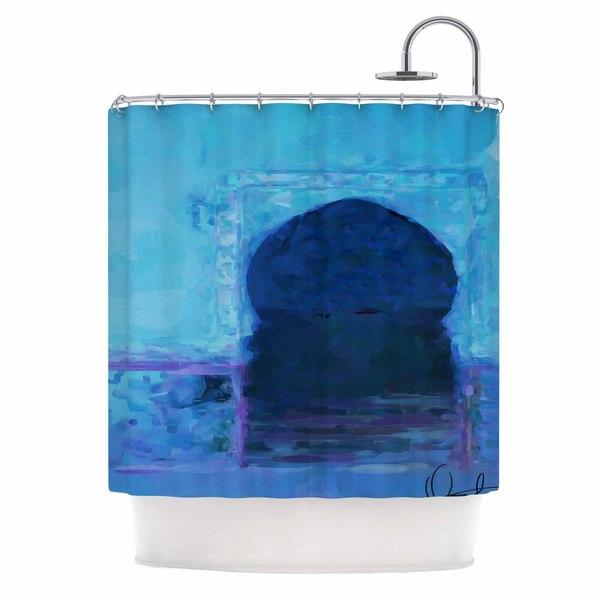 KESS InHouse Oriana Cordero Chefchaouen-Blue City Blue Purple Shower Curtain (69x70)