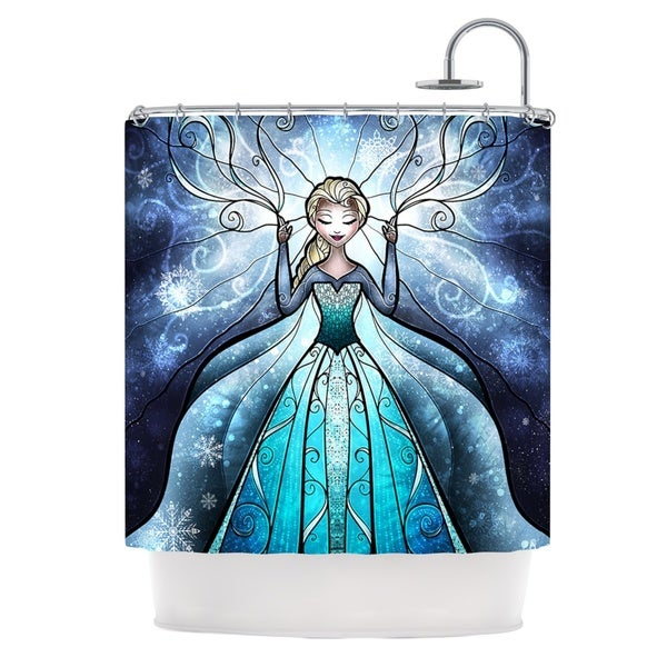 KESS InHouse Mandie Manzano The Snow Queen Frozen Shower Curtain (69x70)