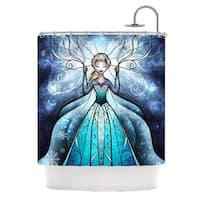 KESS InHouse Mandie Manzano The Snow Queen Frozen Shower Curtain (69x70)