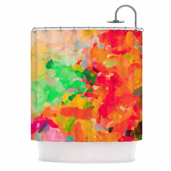 KESS InHouse Oriana Cordero La Rochelle-Abstract Red Multicolor Shower Curtain (69x70)