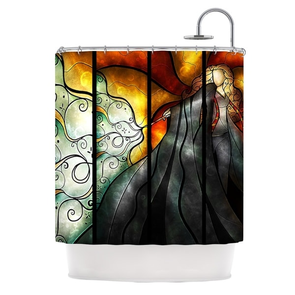 KESS InHouse Mandie Manzano Expecto Patronum Harry Potter Shower Curtain (69x70)