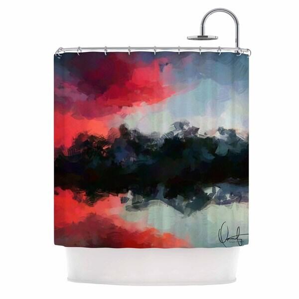 KESS InHouse Oriana Cordero Days of Summer Rainbow Abstract Shower Curtain (69x70)