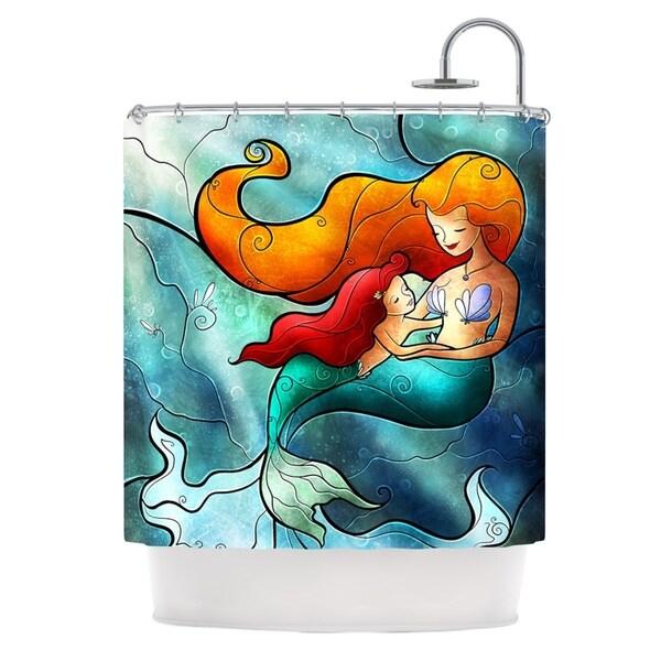 KESS InHouse Mandie Manzano I Remember Love Mermaid Shower Curtain (69x70)