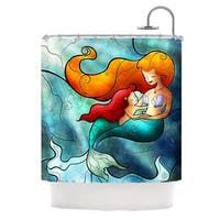 KESS InHouse Mandie Manzano I Remember Love Mermaid Shower Curtain (69x70)