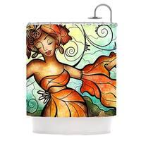 KESS InHouse Mandie Manzano Cubana Dancing Shower Curtain (69x70)