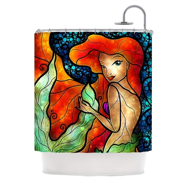 KESS InHouse Mandie Manzano Ariel Mermaid Shower Curtain (69x70)