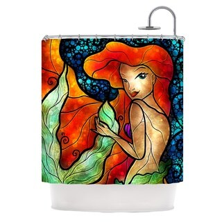 KESS InHouse Mandie Manzano Ariel Mermaid Shower Curtain (69x70)