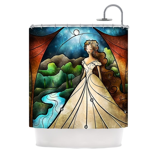 KESS InHouse Mandie Manzano Think Of Me Princess Shower Curtain (69x70)