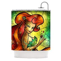 KESS InHouse Mandie Manzano Poison Ivy Villain Shower Curtain (69x70)