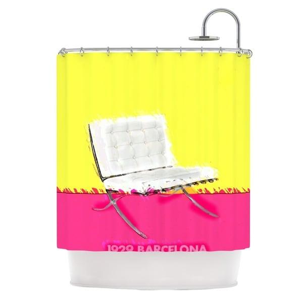 KESS InHouse Oriana Cordero Barcelona Chair Pink Yellow Shower Curtain (69x70)