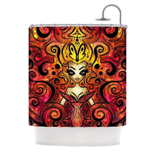 KESS InHouse Mandie Manzano She Devil Full Shower Curtain (69x70)