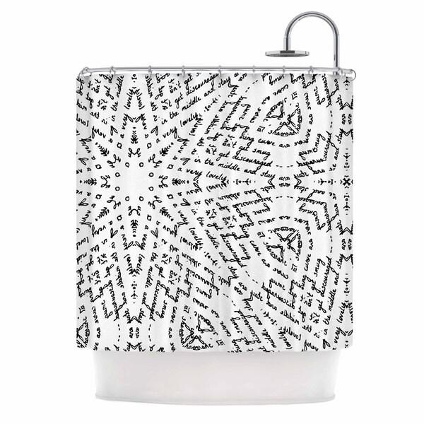 KESS InHouse Laura Nicholson Letter Of Advice Black White Shower Curtain (69x70)