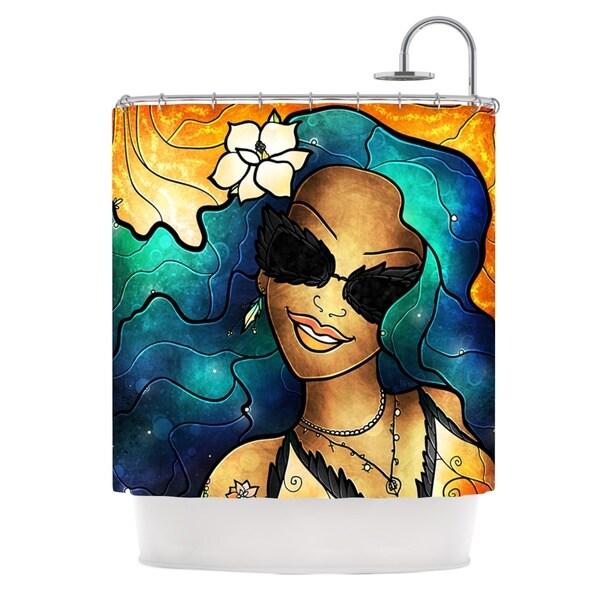 KESS InHouse Mandie Manzano Let The Good Times Roll Shower Curtain (69x70)