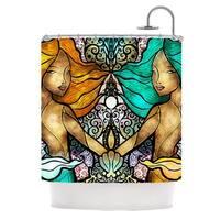 KESS InHouse Mandie Manzano Mermaid Twins Shower Curtain (69x70)