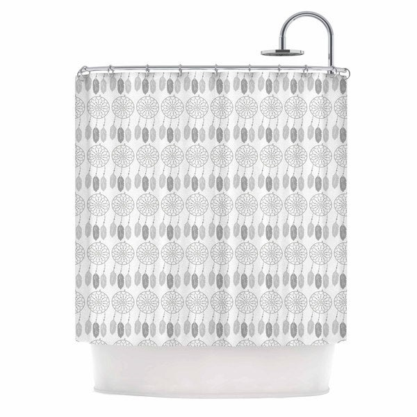 KESS InHouse Petit Griffin Dreams Gray Digital Shower Curtain (69x70)