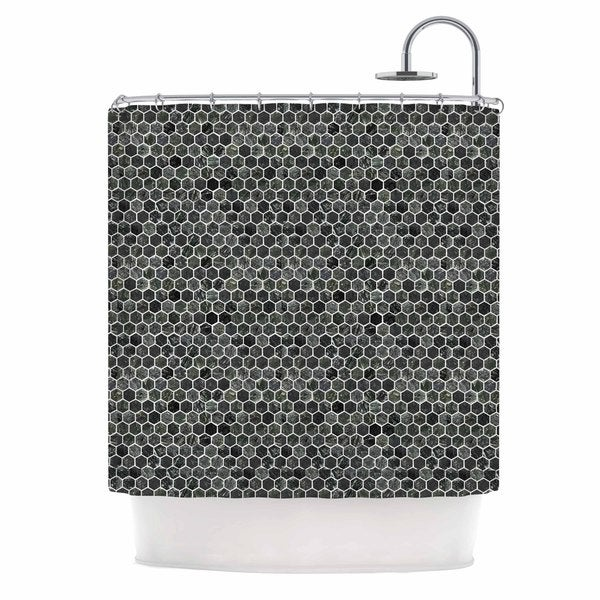 KESS InHouse Petit Griffin Marble Gray Abstract Shower Curtain (69x70)