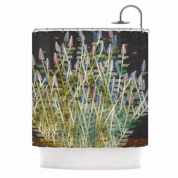 KESS InHouse Laura Nicholson Russian Sage Green Yellow Shower Curtain (69x70)