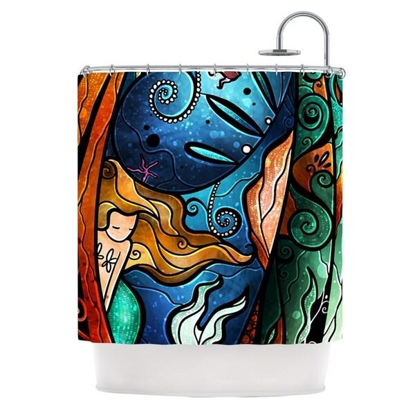 KESS InHouse Mandie Manzano Fathoms Below Mermaid Shower Curtain (69x70)