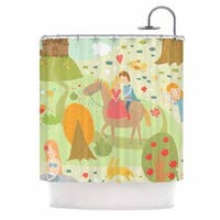 KESS InHouse Petit Griffin Fairy Tale Fantasy Illustration Shower Curtain (69x70)