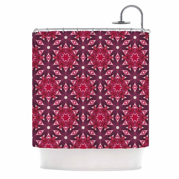 KESS InHouse Laura Nicholson Blooming Echinacea Magenta Floral Shower Curtain (69x70) - 69 x 70