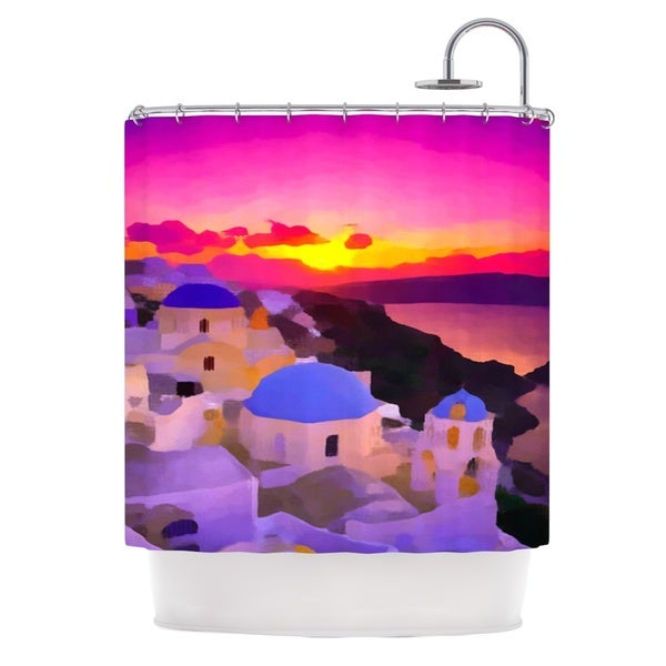 KESS InHouse Oriana Cordero My Konos Pink Sunset Shower Curtain (69x70)