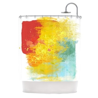 KESS InHouse Oriana Cordero Medley Colorful Paint Shower Curtain (69x70)