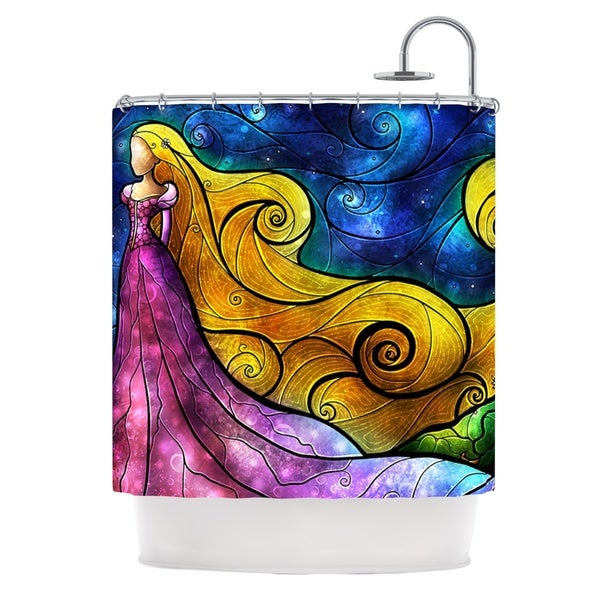 KESS InHouse Mandie Manzano Starry Lights Shower Curtain (69x70)