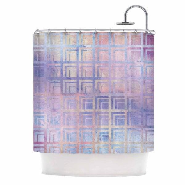 KESS InHouse Matt Eklund Tiled Dreamscape Pink Purple Shower Curtain (69x70)
