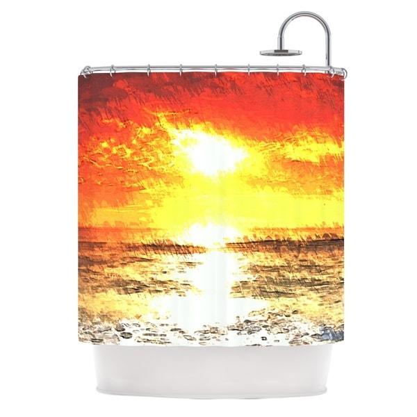 KESS InHouse Oriana Cordero Riviera Orange Yellow Shower Curtain (69x70)