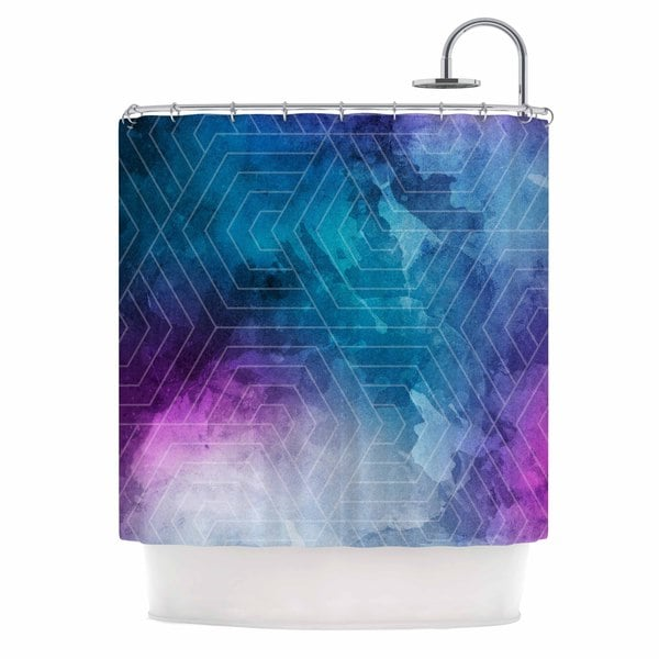 KESS InHouse Matt Eklund Going Home Blue Purple Shower Curtain (69x70)
