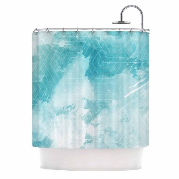 KESS InHouse Matt Eklund Skyward Blue White Shower Curtain (69x70)