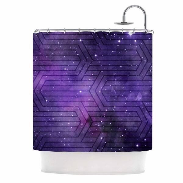 KESS InHouse Matt Eklund Cosmic Labyrinth Purple Lavender Shower Curtain (69x70)