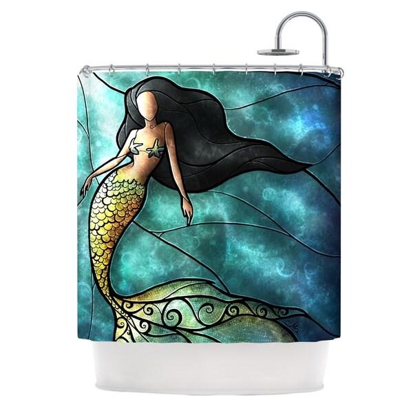 KESS InHouse Mandie Manzano Mermaid Shower Curtain (69x70)