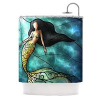 KESS InHouse Mandie Manzano Mermaid Shower Curtain (69x70)