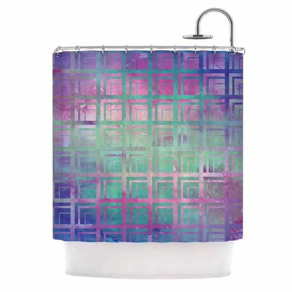 KESS InHouse Matt Eklund Tiled Poison Pink Purple Shower Curtain (69x70)