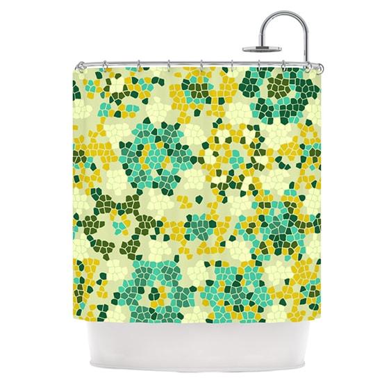 KESS InHouse Laura Nicholson Flower Garden Mosaic Shower Curtain (69x70)