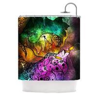KESS InHouse Mandie Manzano Sleeping Beauty Fairy Tale Shower Curtain (69x70)