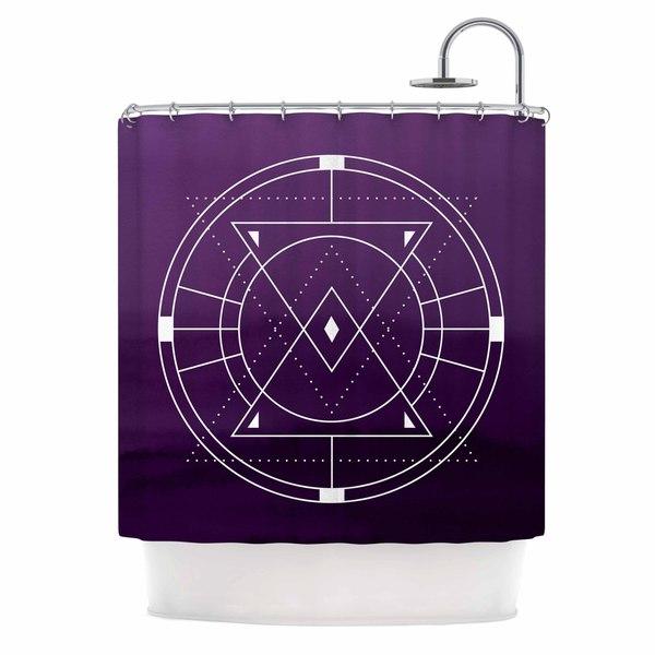KESS InHouse Matt Eklund Mystic City Purple Digital Shower Curtain (69x70)