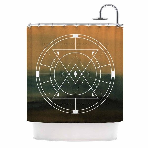KESS InHouse Matt Eklund Lost City Tan Geometric Shower Curtain (69x70)