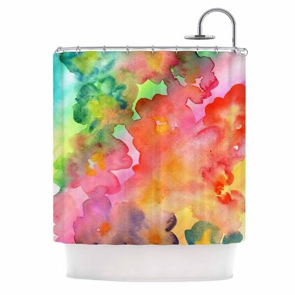 KESS InHouse Louise Machado Spring Colours Watercolor Floral Shower Curtain (69x70)
