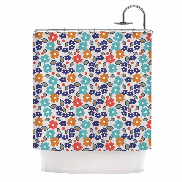 KESS InHouse Louise Machado Joli Blue Red Shower Curtain (69x70)